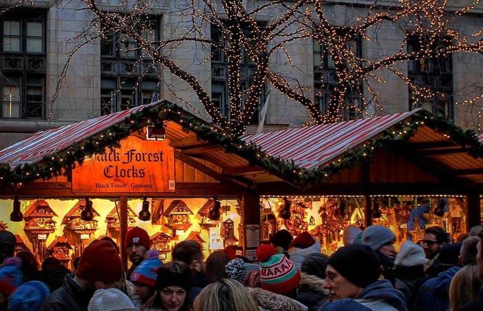 Ci sono eccellenti mercatini di Natale anche fuori dall'Europa,come il Christkindlmarket di Chicago