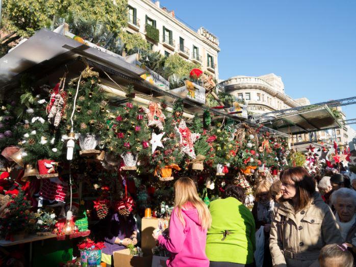 Un mercatino di Natale a Barcellona