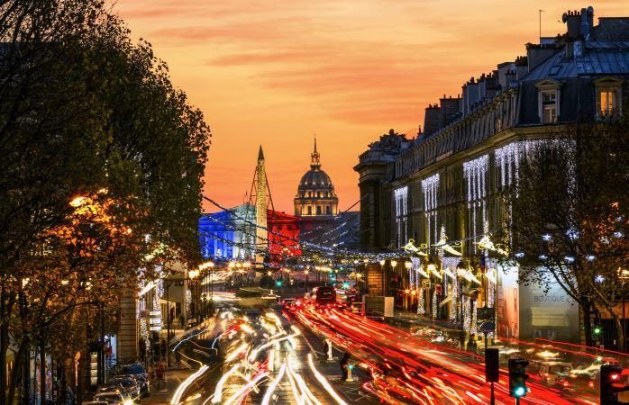Piazza della Concordia sotto Natale, Parigi